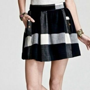 Free People - Black & White Plaid Mini Skirt - 0